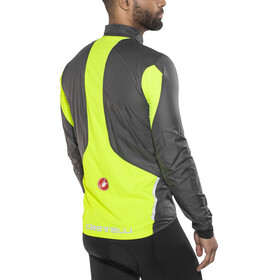 Castelli Superleggera Jacket Men anthracite/yellow fluo